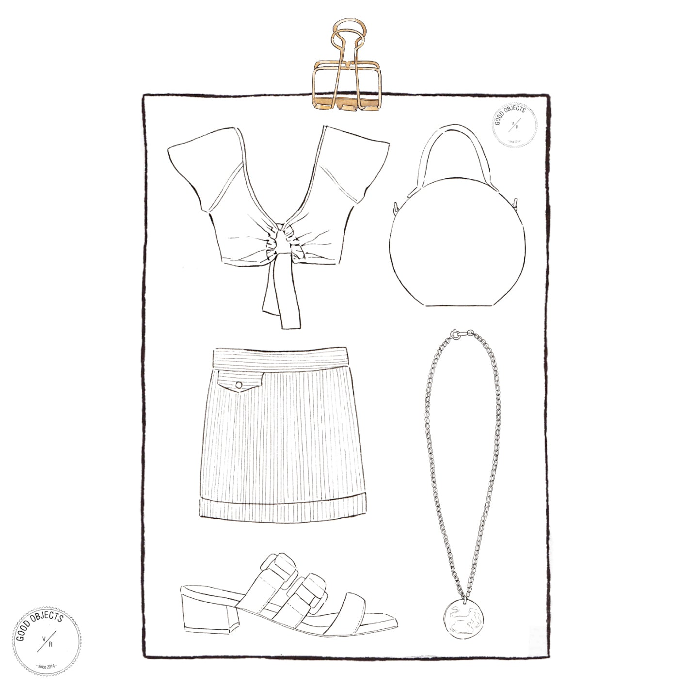 printable fashion coloring page