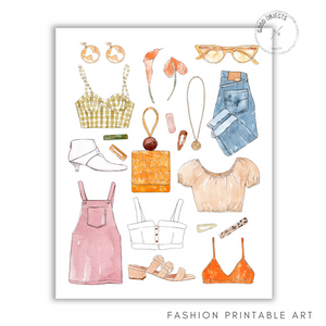 fashion printable art
