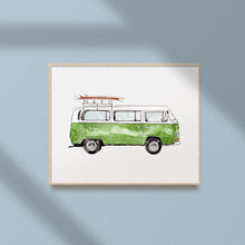 Load image into Gallery viewer, green mini van printable art