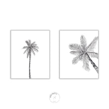Load image into Gallery viewer, 2 black palms printable art