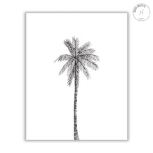 Load image into Gallery viewer, centered black palm watercolor illustration