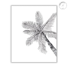 Load image into Gallery viewer, black palm watercolor illustration