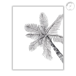 2 Black Palm Trees - Digital Download