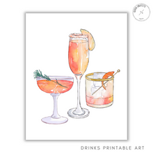 Load image into Gallery viewer, drinks printable art