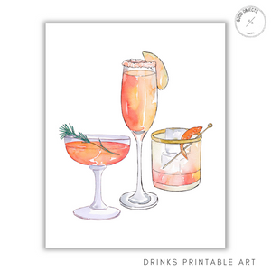 drinks printable art
