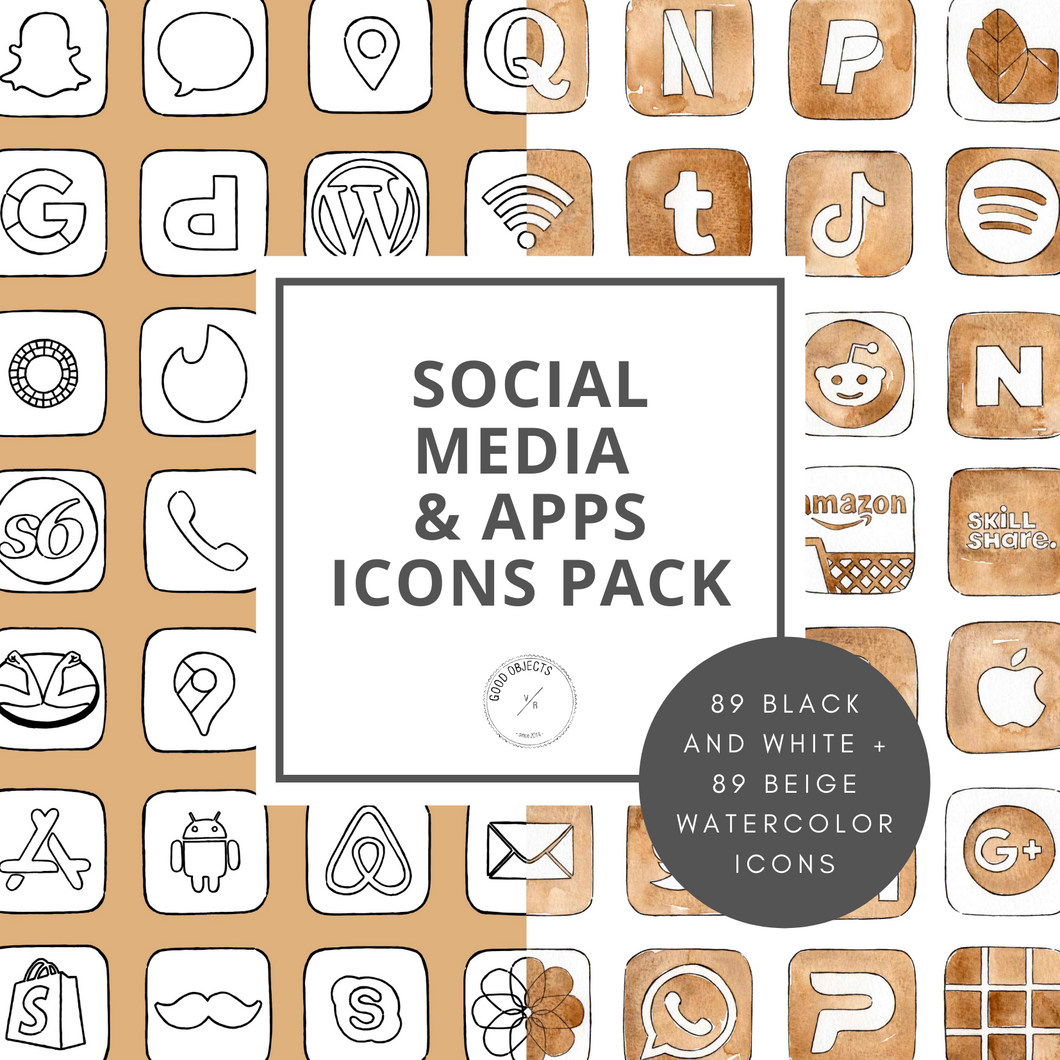 Social Media & Apps Icons Pack