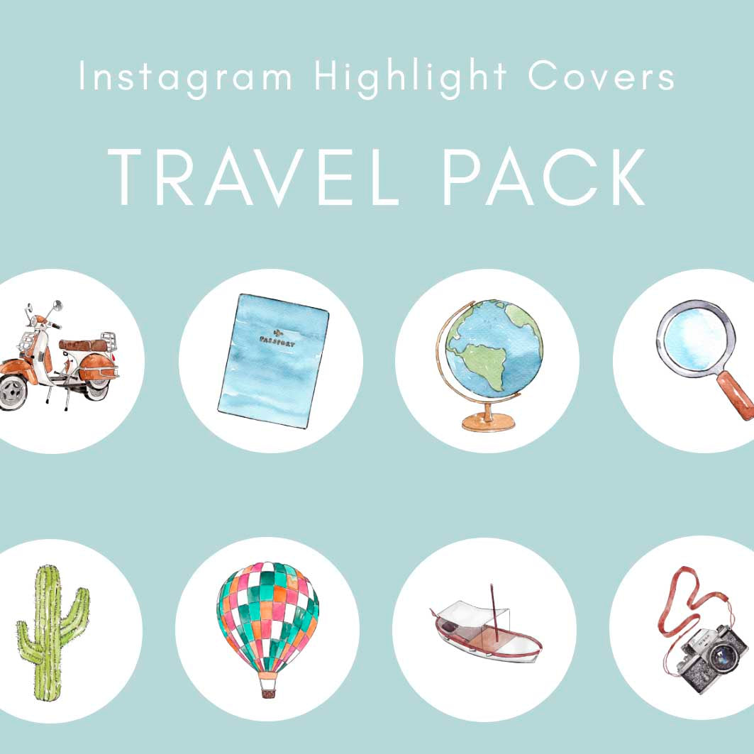 90 Instagram Highlight Covers Travel Pack Goodobjects