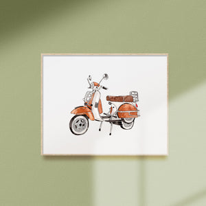 vintage motorcycle printable art