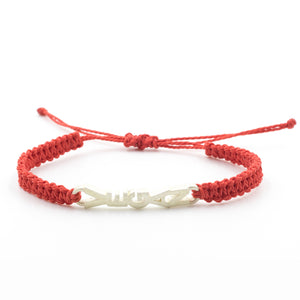Vegan bracelet red