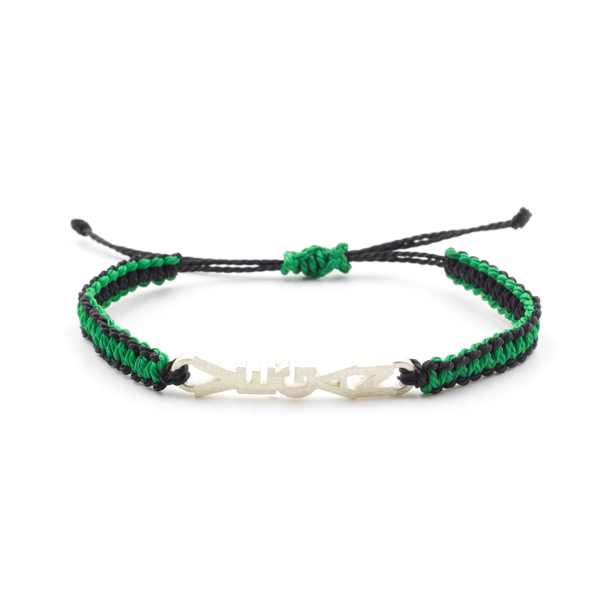 Vegan bracelet green, black