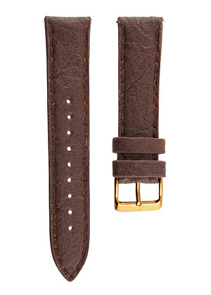 Piñatex strap- Brown, Gold