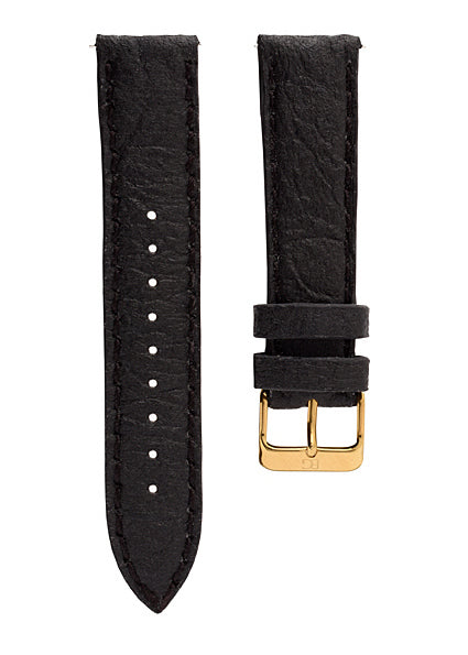 Piñatex strap  Black - Gold