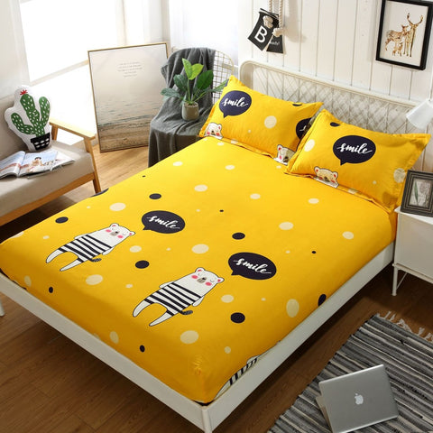 Cartoon Animals Printed Bed Sheets