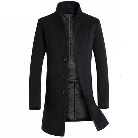 2019 Men Thicken Woolen Coat