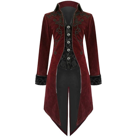 Men Vintage Gothic Long Coat