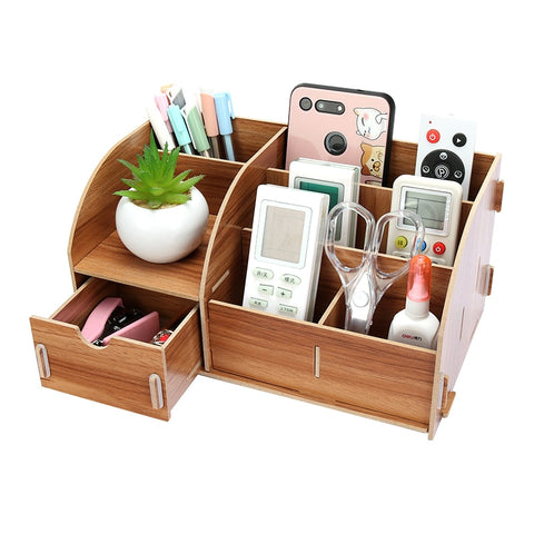 Wood Desk Stationery Holders
