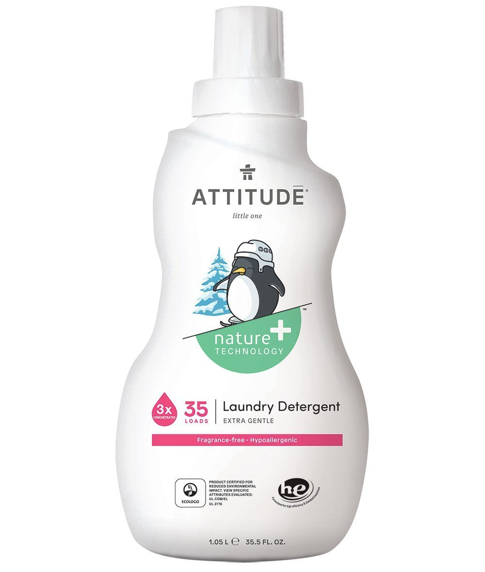 Attitude Canada- Little Ones Laundry Detergent (Fragrance Free) 35 loads, 1.05 L(幼兒專用洗衣液-無味配方)