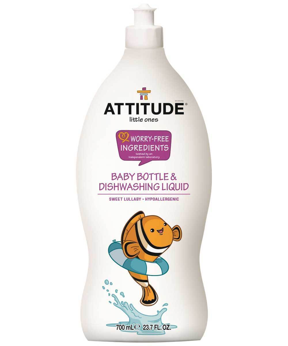 Attitude Canada- Baby Bottle & Dishwashing Liquid- Sweet Lullaby 700 ml(嬰兒餐具及奶樽清潔液-甜睡配方)