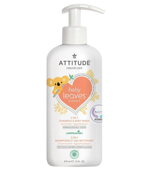 Attitude Canada- Baby Leaves 2 in 1 Shampoo & Bodywash- Pear Nectar 473 ml(幼兒洗頭及沖涼液二合一-梨花蜜味)