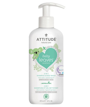 Attitude Canada- Baby Leaves 2 in 1 Shampoo & Bodywash- Sweet Apple 473 ml(幼兒洗頭及沖涼液二合一-蘋果味)