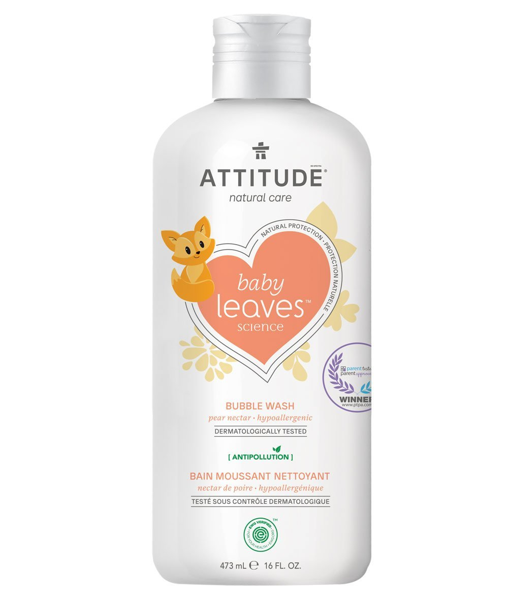 Attitude Canada- Baby Leaves Bubble Wash- Pear Nectar 473 ml(幼兒抱抱浴-梨花蜜味)