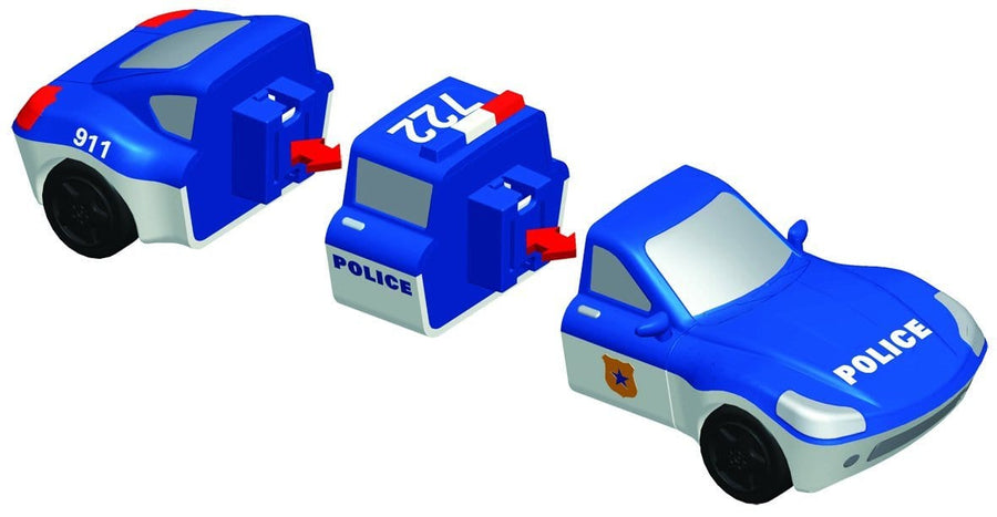 Popular Playthings Mix or Match Vehicles Police 美國Popular Playthings 磁石配對拼砌玩具-警察主題