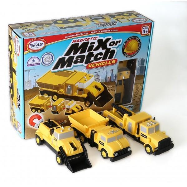 Popular Playthings Mix or Match Vehicles Construction 美國Popular Playthings 磁石配對拼砌玩具-工程貨車