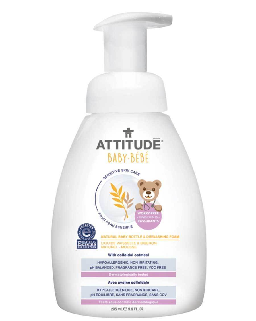 Atittude Canada- Sensitive Skin BABY Bottle & Dishwashing Foam (Fragrance-free and Ezcema -friendly) 295ml(敏感肌嬰兒專用洗碗及洗奶樽泡泡-無味&濕疹肌膚適用)