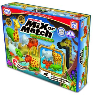 Popular Playthings Magnetic Mix or Match Animals 美國Popular Playthings磁石配對拼砌玩具-動物