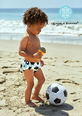 Charlie Banana USA Reusable Easy Snaps Swim Diaper Soccer Small 拍扭式環保可循環再用游泳褲(細碼)