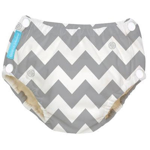 Charlie Banana USA Reusable Easy Snaps Swim Diaper Grey Chevron X-Large 拍扭式環保可循環再用游泳褲(加大碼)