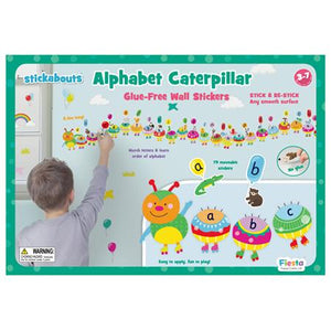 Fiesta Crafts UK-  Alphabet Caterpillar Wall Stickabouts 英國Fiesta Crafts趣味學習字母牆貼
