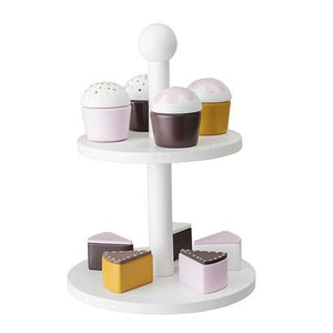 Bloomingville Denmark- Toy Food, White, Cake Stand
