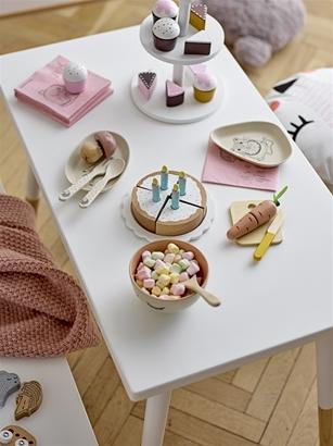 Bloomingville Denmark- Toy Food, White, Cake Stand 丹麥品牌木製下午茶套裝兒童玩具