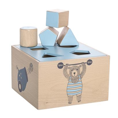Bloomingville Denmark- Circus Intelligence Box, Blue, Beech 丹麥品牌形狀配對幼兒玩具