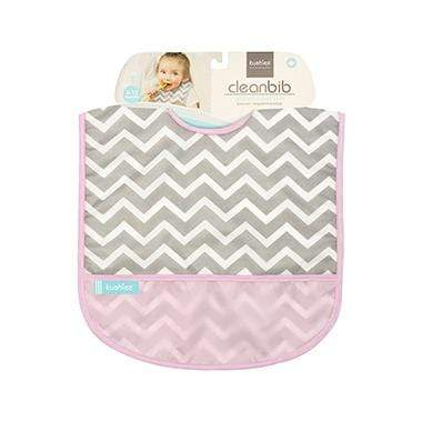 Kushies Canada- Cleanbib | Pink Chevron 加拿大品牌Kushies飯衣/圍兜