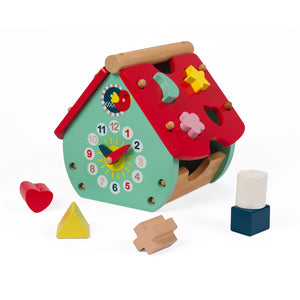 Janod France Baby Forest House Shape Sorter 法國品牌Janod 圖形小屋玩具