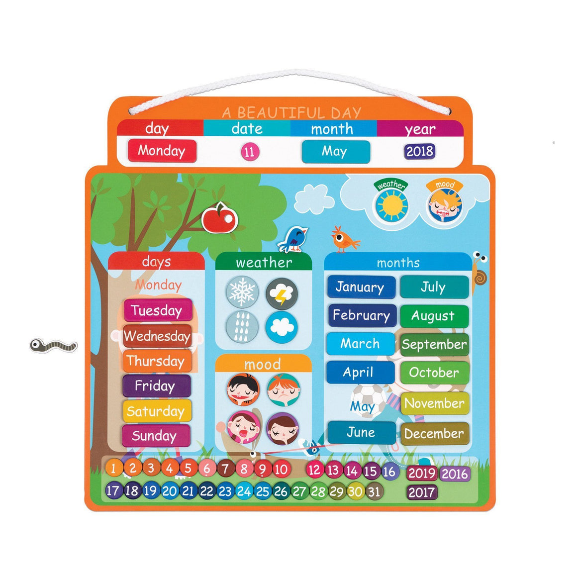 Janod France English Magnetibook Calendar 法國品牌Janod 磁石玩具(日曆)