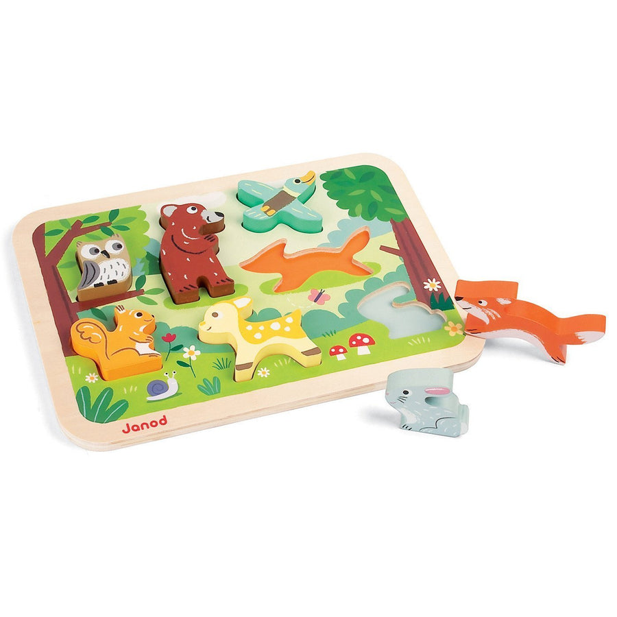 Janod France Chunky Puzzle Forest 法國品牌Janod 拼圖(森林)