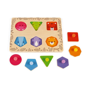 Janod France -I Am Learning Geometric Shapes 法國品牌Janod 玩具(幾何圖形)