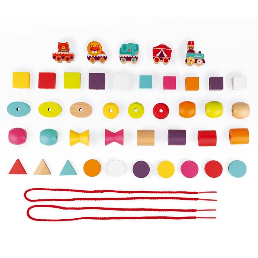 Janod France- Stringable Circus-Themed Beads 法國品牌Janod 玩具(馬戲團小積木)