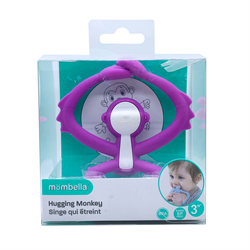 Mombella- Hugging Monkey Teether -Purple 嬰兒牙膠