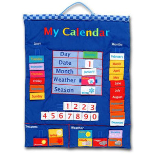 Fiesta Crafts UK- My Calendar-Fabric-Blue 英國Fiesta Crafts我的日曆布料掛飾
