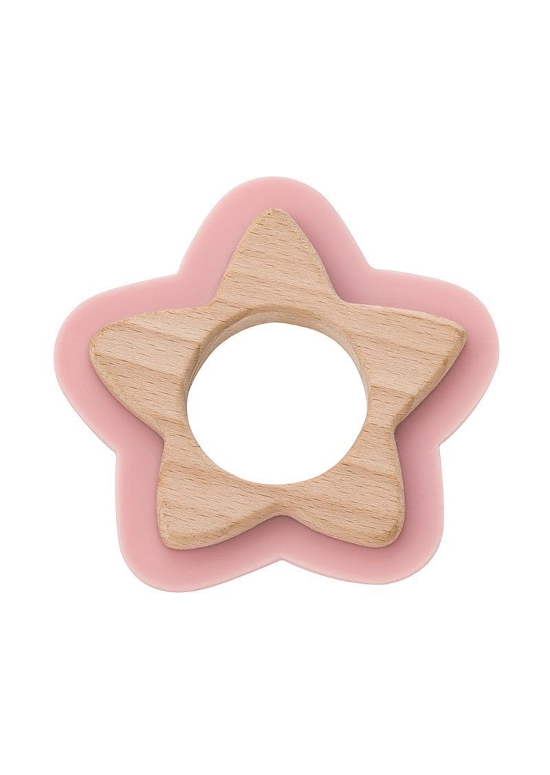 Saro Baby Madrid-NATURE TOY: STAR TEETHER - Pink  咬咬星星形牙膠玩具-粉紅色