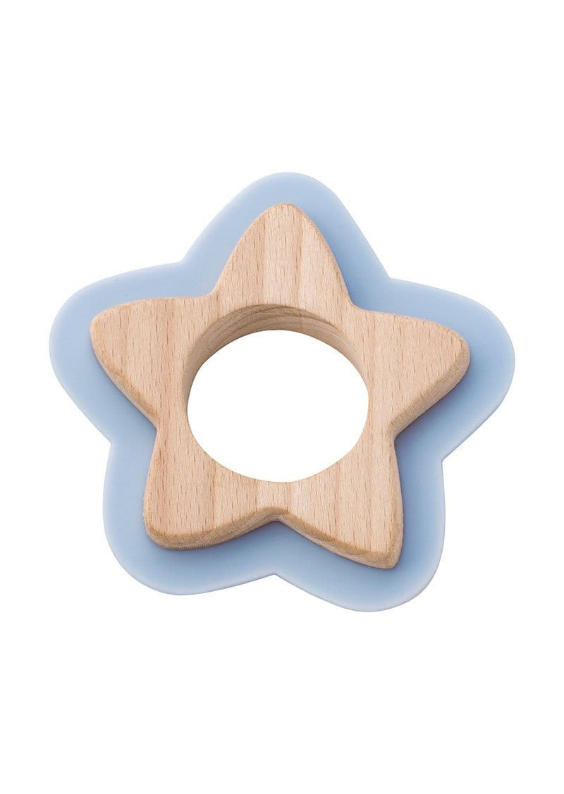 Saro Baby Madrid-NATURE TOY: STAR TEETHER - Blue 咬咬星星形牙膠玩具-藍色