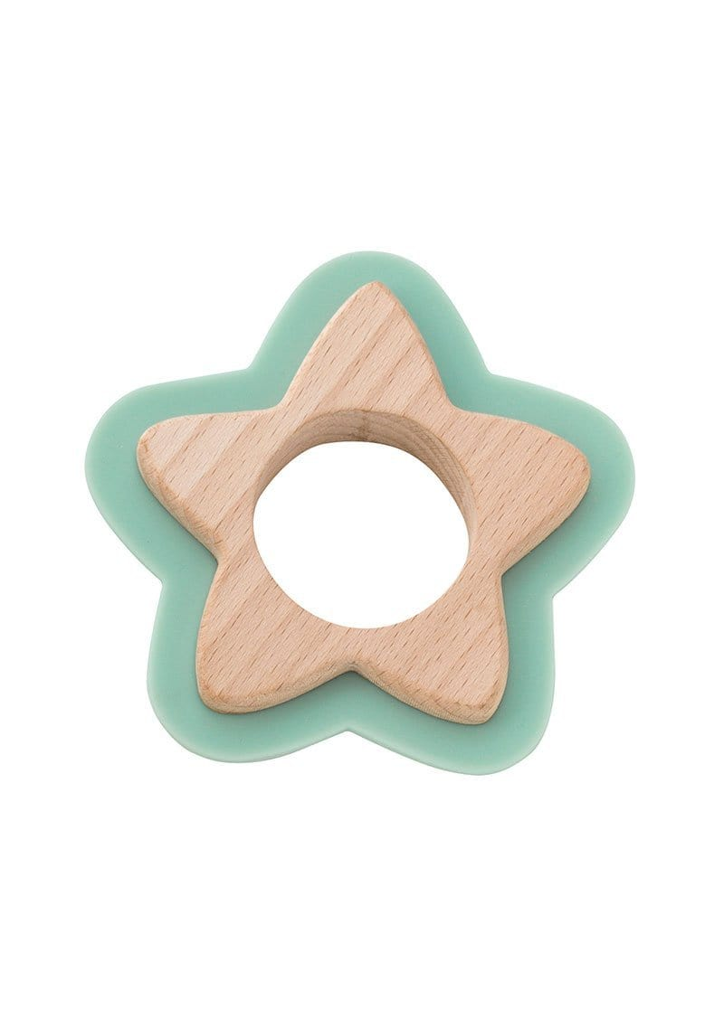 Saro Baby Madrid-NATURE TOY: STAR TEETHER - Mint 咬咬星星形牙膠玩具-薄荷綠色