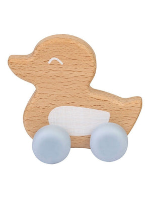 "Saro Baby Madrid- NATURE TOY ""DUCKY"" Teether- Blue 小鴨咬咬玩具"