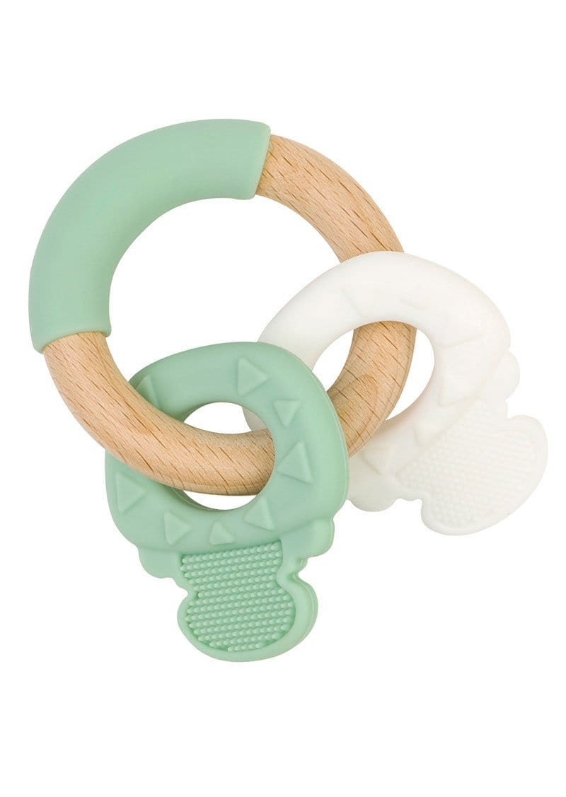 "Saro Baby Madrid- NATURE TOY ""KEYS"" Teether- Mint 咬咬鎖匙扣玩具"