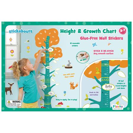 Fiesta Crafts UK- Nature Height Growth Chart Stickabouts 英國Fiesta Crafts高度成長牆貼