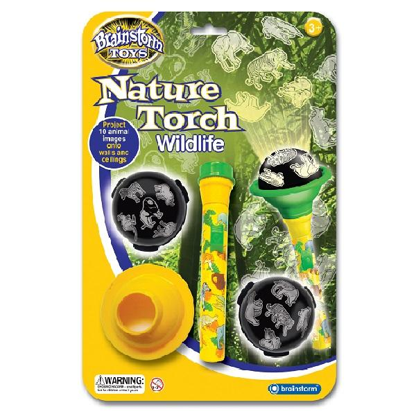 Brainstorm UK Nature Torch™ Wildlife 英國Brainstorm Toys動物生態投影電筒